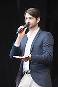 London, UK. 21 June 2015. Presenter Oliver Tompsett at West End Live 2015 in Trafalgar Square.