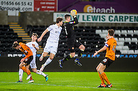 Harry Burgoyne of Wolves catches the ball during the Checkatrade 3rd round match between Swansea City U21's and Wolverhampton Wonderers U21's at the Liberty Stadium, Swansea on Tuesday January 10 2017