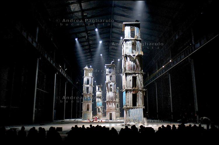 Milano, Hangar Bicocca di v.le Sarca.<br /> I Sette Palazzi Celesti, installazione permanente all'Hangar Bicocca. <br /> Milan, Hangar Bicocca, The Kiefer's tower.