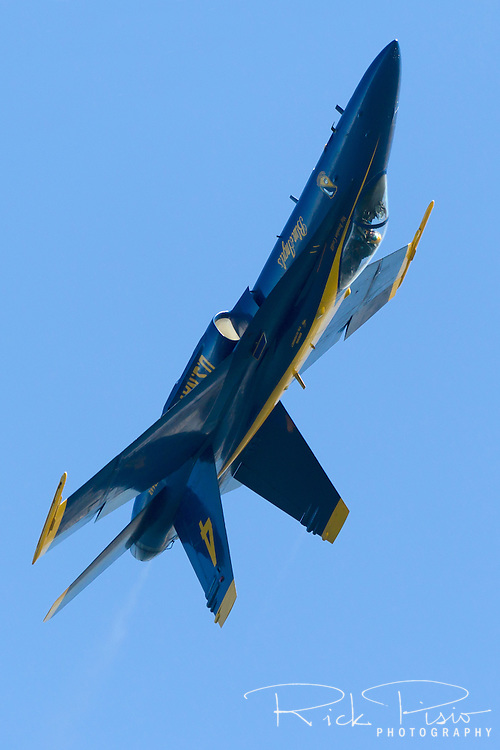 Slot Aircraft, Blue Angel #4, goes over the top.