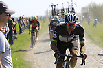 Riders on pave sector 17 Hornaing a Windignies during the 115th edition of the Paris-Roubaix 2017 race running 257km Compiegne to Roubaix, France. 9th April 2017.<br /> Picture: Eoin Clarke | Cyclefile<br /> <br /> <br /> All photos usage must carry mandatory copyright credit (&copy; Cyclefile | Eoin Clarke)