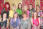 FANCY DRESS: Enjoying a great time at the Bone Marrow For Leukemia fundraising fancy dress party at the Imperial Hotel on Saturday seated l-r: Joanna (Madonna) Conlan, Annette O'Donnell, Geraldine (Tina Turner) Conlan and Cara (Twiggy) Keane. Back l-r: Nora (Cher) Cantalan, Ciara (Lulu) Conlan, Louise Herbert, Kate (Sandra Dee) O'Donnell, Tracey Barrett and Mary Foley...