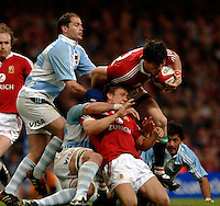2005 British & Irish Lions vs Pumas [ Argentina], at The Millennium Stadium, Cardiff, WALES match played on  23.05.2005, Shane Horgan attacking, jonny Wilkinson already tackld..Photo  Peter Spurrier. .email images@intersport-images...