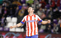 Cristian Rodriguez scores a goal during Real Valladolid V Atletico de Madrid match of La Liga 2012/13. 17/02/2012. Victor Blanco/Alterphotos /NortePhoto