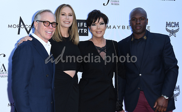08 April 2018 - Beverly Hills, California - Tommy Hilfiger, Dee Ocleppo, Kris Jenner, Corey Gamble. The Daily Front Row's 4th Annual Fashion Los Angeles Awards held at The Beverly Hills Hotel. Photo Credit: Birdie Thompson/AdMedia