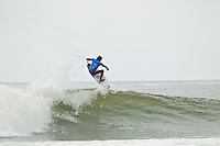 """LOWER TRESTLES, California/USA (Wednesday, September 21, 2011) Owen Wright (AUS).   - Kelly Slater (USA), 39, has won his fifth Hurley Pro at Trestles title, defeating Owen Wright (AUS), 21, in a hard-fought Final that saw the iconic Floridian overtake the young Australian in a last-minute exchange with a final score of 17.50 to 16.74...Slater and Wright's third consecutive Final bout marks a first in ASP history, as no two competitors have faced off in three successive ASP Dream Tour Finals - a noteworthy statistic in sparking this new rivalry in the battle for the ASP World Title...Slater roared to life on the Final day, unloading the highest heat-total of competition, 18.40 out of 20 in the Semifinals, and maintained his lethal form throughout the day's entirety with a consistent display of new-school airs and patented carves to clinch his unprecedented 48th elite ASP World Tour victory and third of the season...""""Owen (Wright) is tough and he's been surfing great,"""" Slater said. """"There really are no weak points to his surfing and he's going to be a standout in every spot. A lot of the guys tried to get him this week and I got lucky in that last exchange. I was taking the first wave of the set under his priority and once I got priority I wanted to wait. It almost looked like there wasn't a wave after Owen's. It's been fun surfing against Owen and surfing Lowers. It's been a great week and thanks everyone for the crazy support, it's been wonderful.""""..Wright, current No. 2 on the ASP World Title rankings, has continued to build momentum throughout his sophomore year amongst the ASP Top 34 and dispatched of a rampaging Mick Fanning (AUS), 30, and rookie prodigy Julian Wilson (AUS), 22, en route to his rematch against Slater, but was unable to solidify the victory over the veteran in the Final.  Photo: joliphotos.com"""