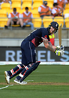 England's Ben Stokes in action during the One Day International between the New Zealand Black Caps and England at the Westpac Stadium in Wellington, New Zealand on Friday, 2 March 2018. Photo: Dave Lintott / lintottphoto.co.nz