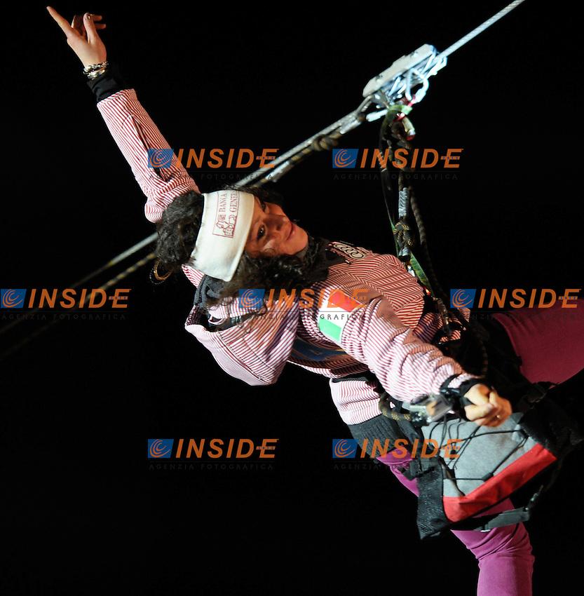 Federica Brignone durante la cerimonia di premiazione.28.12.2011, Hochstein, Lienz, AUSTRIA.Sci Slalom Gigante Donne Coppa del Mondo .foto Insidefoto / EXPA / M. Gruber