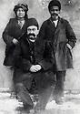 Iran 1910. Hadj Ahmed Agha Mokri with 2 servants, brother of  Mohammed Agha Ghassemlou and uncle of Abdul Rahman Ghassemlou <br /> <br /> Iran 1910. Hadj Ahmed Agha Mokri avec 2 serviteurs. Il est le fr&egrave;re de Mohammed Agha Ghassemlou et l'oncle de Abdul Rahman Ghassemlou<br /> <br /> ئیران 1910 ، حاجی ئه حمه د ئاغای موکری له گه ل خزمه تکاره کانی . برای موحه مه د ئاغای قاسملو، مامی عه بدولرحمان قاسملو