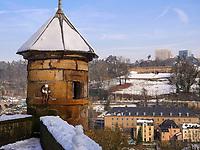 Clausen, Europazentrum auf dem Kirchberg, Luxemburg-City, Luxemburg, Europa<br /> Clausen, Eurpean center, Luxembourg City, Europe