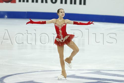 09.12.2016. Palais Omnisports, Marseille, France. ISU Junior Figure Skating Grand Prix Final.  Alina Zagitova (RUS) competes in the Women's Free Program.