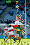 Diarmuid O'Connor Kerry in action against Martin Bradley Derry in the All-Ireland Minor Footballl Final in Croke Park on Sunday.