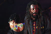 Lucky Dube.<br /> South African reggae musician.<br /> The DRUM Cultural Centre, Birmingham, June 2004.