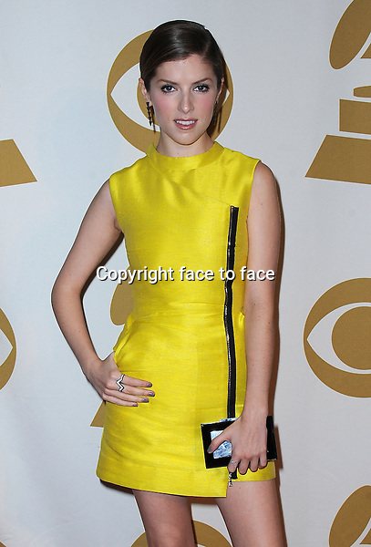 LOS ANGELES, CA - JANUARY 27:  Anna Kendrick arrives at &quot;The Night That Changed America: A Grammy Salute to The Beatles&quot; at the Los Angeles Convention Center West Hall on January 27, 2014 in Los Angeles, California. <br /> Credit: MediaPunch/face to face<br /> - Germany, Austria, Switzerland, Eastern Europe, Australia, UK, USA, Taiwan, Singapore, China, Malaysia, Thailand, Sweden, Estonia, Latvia and Lithuania rights only -