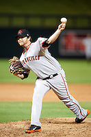 Scottsdale Scorpions pitcher Dan Runzler #37, of the San Francisco Giants organization, during an Arizona Fall League game against the Salt River Rafters at Salt River Fields at Talking Stick on October 11, 2012 in Scottsdale, Arizona.  Salt River defeated Scottsdale 6-5.  (Mike Janes/Four Seam Images)