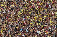 BOGOTA -COLOMBIA. 04-07-2014. Tristeza en los colombianos al ser eliminados por Brazil en el mundial de futbol Brazil 2014. / Sadness in Colombian to be eliminated by Brazil in the World Cup Brazil 2014. Photo: VizzorImage/ Felipe Caicedo