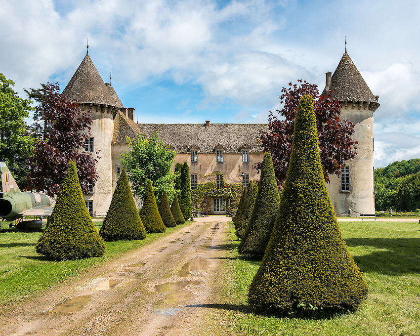 The Château of Savigny-lès-Beaune, located in the Côte de Beaune in Burgundy, France.