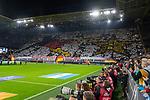 09.10.2019, Signal Iduna Park, Dortmund, GER, FSP, LS, Deutschland (GER) vs Argentinien (ARG)<br /> <br /> DFB REGULATIONS PROHIBIT ANY USE OF PHOTOGRAPHS AS IMAGE SEQUENCES AND/OR QUASI-VIDEO.<br /> <br /> im Bild / picture shows<br /> <br /> Choreo BVB Kurve<br /> <br /> während Freundschaftsspiel  Deutschland gegen Argentinien   in Dortmund  am 09.10..2019,<br /> <br /> Foto © nordphoto / Kokenge