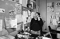 - the studios of the historical indipendent broadcasting station Popular Radio of Milan in the center of first years 90 in S.Stefano square<br /> <br /> - gli studi di trasmissione della storica emittente indipendente Radio Popolare di Milano nella sede dei primi anni 90 in piazza S.Stefano