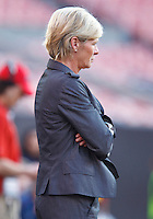 22 MAY 2010:  Germany's WNT Coack Silvia Neid during the International Friendly soccer match between Germany WNT vs USA WNT at Cleveland Browns Stadium in Cleveland, Ohio. USA defeated Germany 4-0 on May 22, 2010.