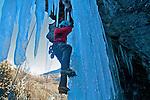 Ecole de cascade de glace, Aiguilles Queyras<br /> France<br /> Ice fall climbing school,Aiguilles,Queyras, France