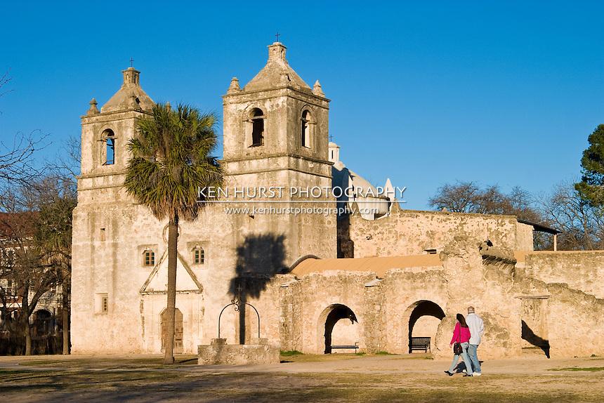Mission Concepcion, or Mission Nuestra Senora de la Purisima Concepcion de Acuna, is a church built by Franciscans in 1755 in San Antonio, Texas and is part of the San Antonio Mission National Historical Park.