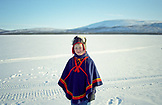 SWEDEN, Swedish Lapland, Young Sami Boy