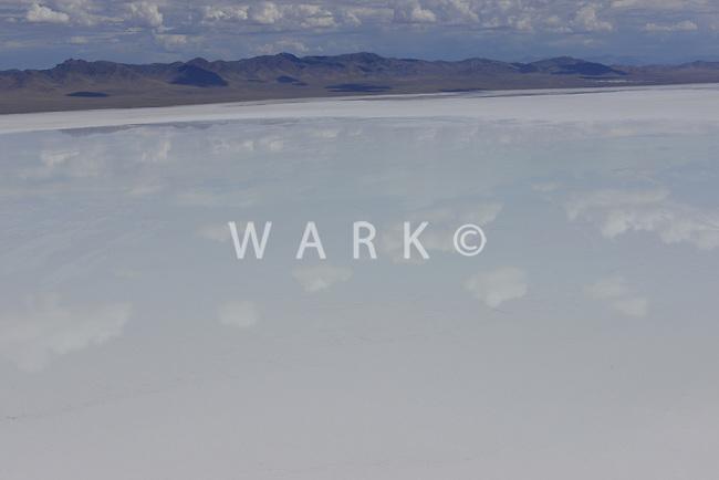 Lake Sevier, Utah.  Salt water lake. Summer 2012