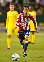 CARSON, CA – APRIL 9, 2011: Chivas USA forward Marcos Mondaini (23) during the match between Chivas USA and Columbus Crew at the Home Depot Center, April 9, 2011 in Carson, California. Final score Chivas USA 0, Columbus Crew 0.