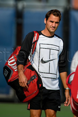 31.08.2015. New York, NY, USA.  Roger Federer (SUI) leaves practice at the 2015 U.S. Open Tennis Championships at the USTA Billie Jean King National Tennis Center in Flushing, Queens, New York, USA.