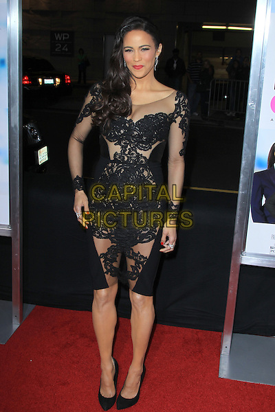 Paula Patton<br /> Premiere of &quot;Baggage Claim&quot; held at Regal Cinemas L.A. Live, Los Angeles, California, USA.<br /> September 25th, 2013<br /> full length black dress lace sheer see through thru cleavage<br /> CAP/MPC/mpi21<br /> &copy;mpi21/MediaPunch/Capital Pictures