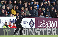 Huddersfield Town manager David Wagner shouts instructions to his team from the dug-out <br /> <br /> Photographer Rich Linley/CameraSport<br /> <br /> The Premier League - Burnley v Huddersfield Town - Saturday 6th October 2018 - Turf Moor - Burnley<br /> <br /> World Copyright &copy; 2018 CameraSport. All rights reserved. 43 Linden Ave. Countesthorpe. Leicester. England. LE8 5PG - Tel: +44 (0) 116 277 4147 - admin@camerasport.com - www.camerasport.com