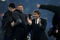 Chelsea Manager, Antonio Conte, celebrates at the final whistle during Chelsea vs Watford, Premier League Football at Stamford Bridge on 15th May 2017