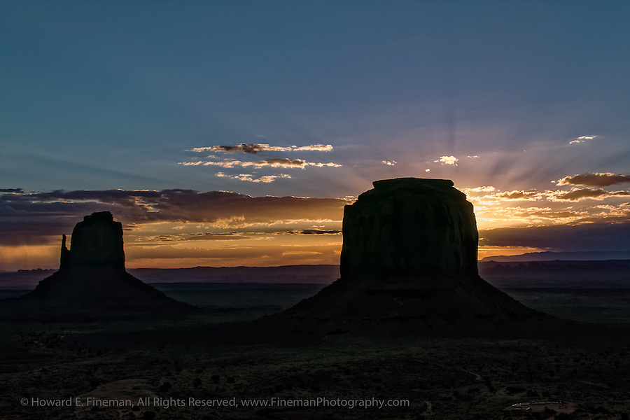 Sunrise at Mittens, Monument Valley