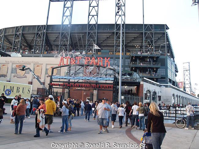 Fans enter the ballpark