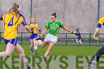 Lousie Galvin for the Kerry ladies team that played Clare last Saturday afternoon in Listowel.