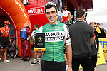Alexander Aranburu Deba (ESP) Caja Rural-Seguros RGA gets his combativity prize at sign on before the start of Stage 12 of La Vuelta 2019 running 171.4km from Circuito de Navarra to Bilbao, Spain. 5th September 2019.<br /> Picture: Luis Angel Gomez/Photogomezsport | Cyclefile<br /> <br /> All photos usage must carry mandatory copyright credit (© Cyclefile | Luis Angel Gomez/Photogomezsport)