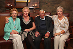 Sean Black with his sisters Kathleen Collins, Delores Graham and .Peggy Heeney at his 80th in the Bellewstown Inn...Picture Jenny Matthews/Newsfile.ie