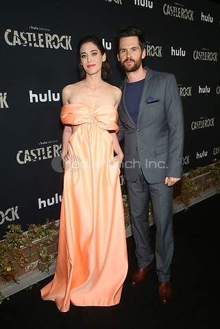 LOS ANGELES, CA - OCTOBER 14: Lizzy Caplan, Tom Riley, at Hulu's Castle Rock Season 2 Premiere at AMC Sunset 5 in Los Angeles, California on October 14, 2019. Credit: Faye Sadou/MediaPunch