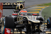 MELBOURNE, 16 March - Romain Grosjean of the Lotus F1 Team during free practise session one of the the 2012 Formula One Australian Grand Prix at the Albert Park Circuit in Melbourne, Australia. (Photo Sydney Low / syd-low.com)