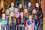 St Marys u12 Div 1 League and Cup winners receive their medals at the St Marys Basketball club awards in the River Island Hotel front row l-r: Amy Curtin, Blathnaid Casey, Muireann Rahilly, Tara Kerin. Middle row: Annie Moriarty, Mary Kate Culhane, Hanna Herlihy, Rebecca Reidy. Back row: Muireann Walsh, Shauna Tangney, Ciara Cronin and Chantel Broderick