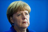 Berlin, Bundeskanzlerin Angela Merkel (CDU) am Montag (27.10.2014) bei einer Pressekonferenz nach bilateralen Gespraechen. Foto: Steffi Loos/CommonLens