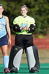 09 October 2015: North Carolina's Mary Kathryn Harrah. The University of North Carolina Tar Heels hosted the Longwood University Lancers at Francis E. Henry Stadium in Chapel Hill, North Carolina in a 2015 NCAA Division I Field Hockey match. UNC won the game 8-1.
