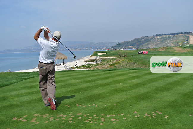 Rich Beem (USA) on the 9th tee on Day 2 of the 2012 Sicilian Open at Verdura Golf and Spa Resort, Sicily, Italy....(Photo Jenny Matthews/www.golffile.ie)