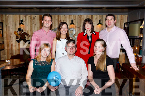 Tuomas Laine, Belfry Tralee celebrates his 40th birthday with friends at No. 4 the Square on Saturday. Pictured front l-r Raakkea Kojo, Tuomas Laine, Elisabeth Kuehling Back Fugal Roche, Roisin Roche, Rebecca Boyle and Conr Boyle