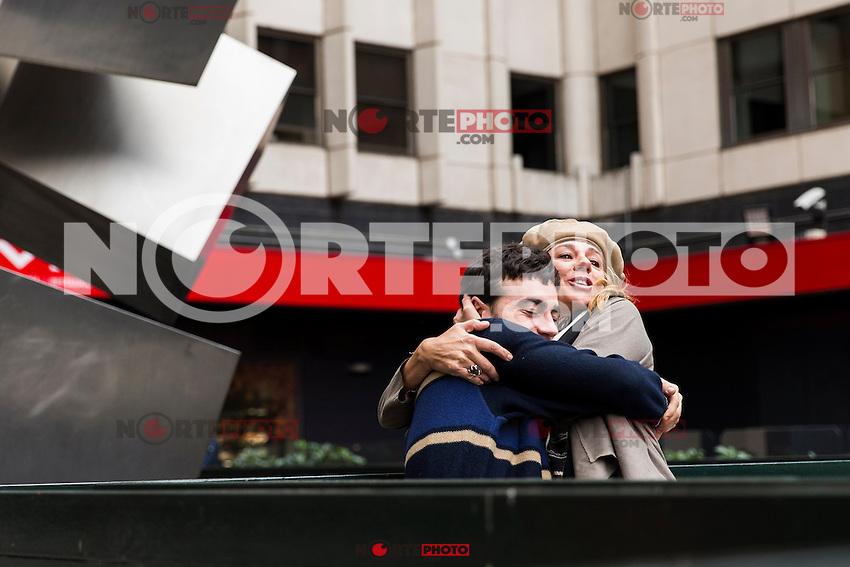 "Spainsh actress Emma suarez and Alex Monner during the premier of the film ""La proxima piel"" at Renoir Princesa Cinema in Madrid, Spain. October 18, 2016. (ALTERPHOTOS/Rodrigo Jimenez)"