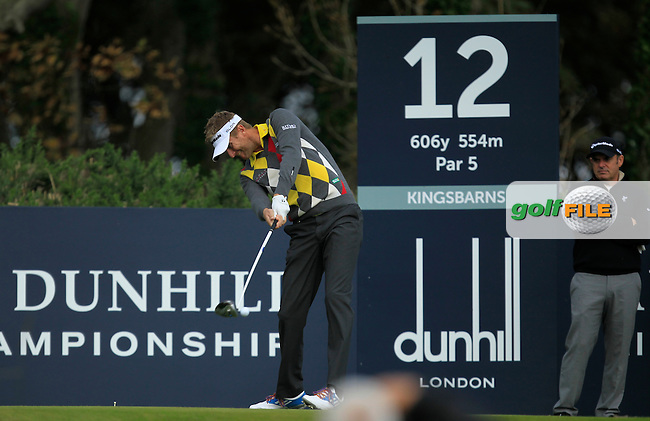 David Lynn (ENG) during Round 2 of the Alfred Dunhill Links Championship at Kingsbarns Golf Club on Friday 27th September 2013.<br /> Picture:  Thos Caffrey / www.golffile.ie