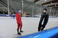 SCHAATSEN: LEEUWARDEN: 21-06-2016, ELFSTEDENHAL, Training Zomerijs, nieuwe sprinttrainer Noorse schaatsers Jeremy Wotherspoon en Espen Aarnes Hvammen (NOR), ©foto Martin de Jong