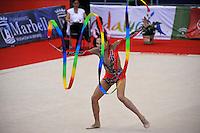 Daria Kondakova of Russia performs on way to winning silver in AA at 2010 Grand Prix Marbella at San Pedro Alcantara, Spain on May 15, 2010. (Photo by Tom Theobald).