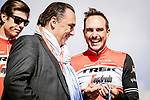 John Degenkolb (GER) Trek-Segafredo at the team presentations in Compiegne before Paris-Roubaix 2019, Compuiegne, France. 13th April 2019<br /> Picture: ASO/Pauline Ballet | Cyclefile<br /> All photos usage must carry mandatory copyright credit (© Cyclefile | ASO/Pauline Ballet)